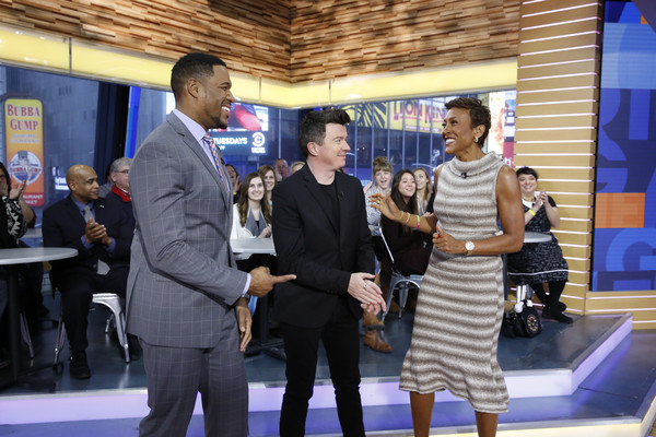 """ABC's """"Good Morning America"""" - 2017 [event,official,leisure,employment,tourism,good morning america,photo,rick astley,michael strahan,robin roberts,heidi gutman,abc,abc television network,getty images]"""