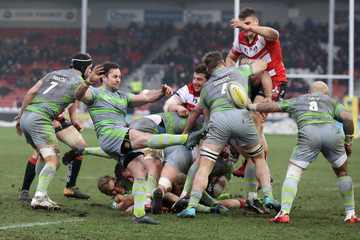 Michael Young Gloucester Rugby vs. Newcastle Falcons - Aviva Premiership
