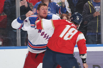 Micheal Haley New York Rangers vs. Florida Panthers