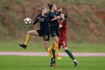 Michelle Heyman Australia Vs. Portugal - Algarve Cup 3rd Place Playoff