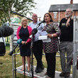 Michelle O'Neill Gerry Adams Support Rally Following Explosive Attack On His Home