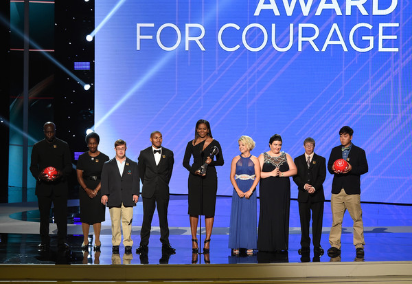 The 2017 ESPYS - Show [performance,stage,sky,team,musical,talent show,event,heater,musical theatre,performing arts,michelle obama,athletes,c,california,los angeles,microsoft theater,special olympics,espys - show]