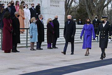 Michelle Obama Barack Obama Joe Biden Marks His Inauguration With Full Day Of Events
