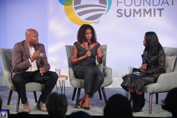 Michelle Obama Barack And Michelle Obama Speak At Obama Foundation Summit