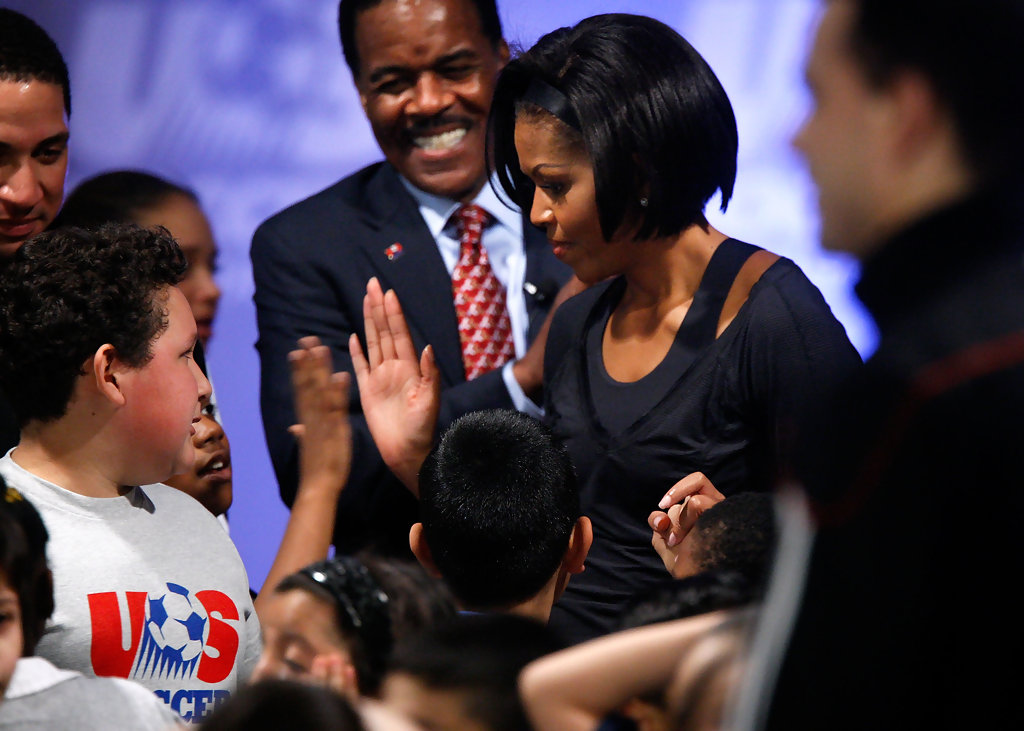 a look at michelle obamas fight in the battle against obesity in america