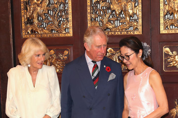 Michelle Yeoh The Prince Of Wales & Duchess Of Cornwall Visit Singapore, Malaysia, Brunei And India - Day 8