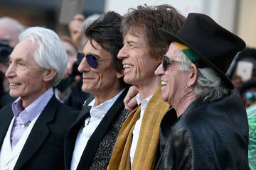 Mick Jagger Charlie Watts 'The Rolling Stones: Exhibitionism' - Private View - Red Carpet Arrivals