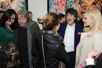 Mick Taylor 'Ronnie Wood: Raw Instict' Unveiled in London