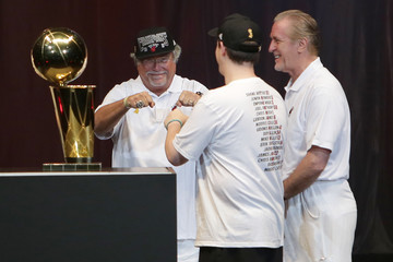 Micky Arison Miami Heat Celebrates Their Win with a Victory Parade