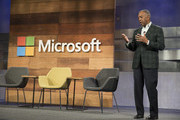 Microsoft Chairman of the Board John Thompson addresses the Microsoft Annual Shareholders meeting, on December 2, 2015 in Bellevue, Washington. In addition to diversity effort, the company announced the addition to two women to its board of directors.