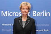 Carola Ferstl arrives for the opening of the Microsoft Center Berlin on November 7, 2013 in Berlin, Germany. The Microsoft Center Berlin, part of a new worldwide initiative called Microsoft Ventures, includes support for startups, conference rooms and the company's 'Digital Eatery,' a cafe and showroom on the ground floor that lets customers try out Microsoft products along with locally-sourced dishes. The company is hoping that the venue will help ensure Microsoft has a place in the city's Internet technology scene.