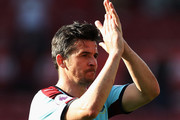 Joey Barton of Burnley shows appreciation to the fans after the Premier League match between Middlesbrough and Burnley at Riverside Stadium on April 8, 2017 in Middlesbrough, England.