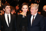 (L-R) Actor Libero De Rienzo, actress Jasmine Trinca and actor Carlo Cecchi attend the Premiere of 'Miele' (A Touch of Sin) during The 66th Annual Cannes Film Festival at Palais des Festivals on May 17, 2013 in Cannes, France.