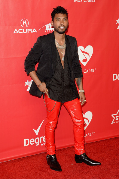 Miguel Recording artist Miguel attends The 2014 MusiCares Person Of The Year Gala Honoring Carole King at Los Angeles Convention Center on January 24, 2014 in Los Angeles, California.