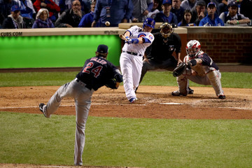 Miguel Montero World Series - Cleveland Indians v Chicago Cubs - Game Three