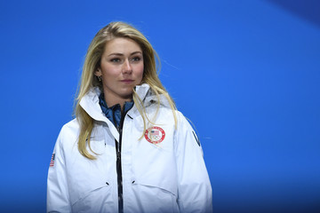 Mikaela Shiffrin Medal Ceremony - Winter Olympics Day 13