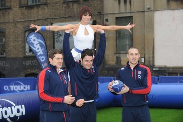 Mike Brown Alex Goode Flavia Cacace And England Rugby Stars Launch National Touch Rugby Campaign - Photocall