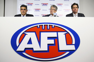 Mike Fitzpatrick Gillon McLachlan AFL Press Conference