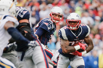 Mike Gillislee Los Angeles Chargers vNew England Patriots
