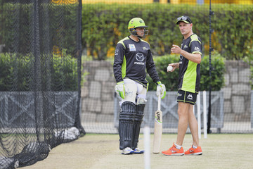 Mike Hussey Sydney Thunder Training Session