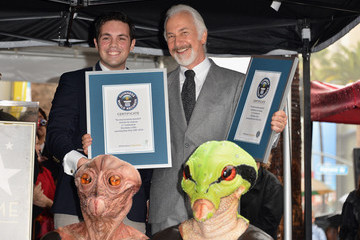 Mike Janela Rick Baker Honored On The Hollywood Walk Of Fame