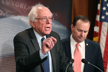 Mike Lee Senator Sanders, Lee, And Murphy Hold News Conference On Removing US Armed Forces From Conflict With Saudi Arabia And Houthis In Yemen