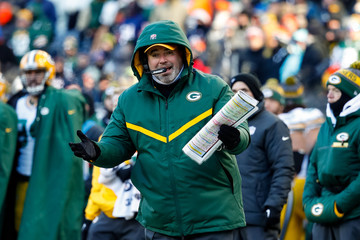 Mike McCarthy Green Bay Packers v Chicago Bears