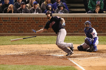 Mike Napoli World Series - Cleveland Indians v Chicago Cubs - Game Five