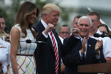 Mike Pence Donald Trump and Melania Trump Host Congressional Picnic at the White House