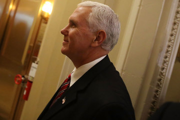 Mike Pence Senate Legislators Address the Media After Their Weekly Policy Luncheons
