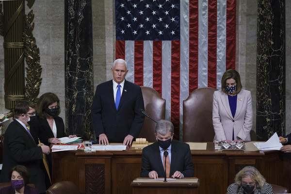 European Best Pictures Of The Day - January 08 [best pictures of the day,face,flag,table,government,suit,flag of the united states,tie,official,blazer,white-collar worker,mike pence,d,joe biden,donald trump,european,united states,electoral college,united states house of representatives,congress,united states,us vice president,president of the united states,speaker of the united states house of representatives,united states electoral college,mike pence]