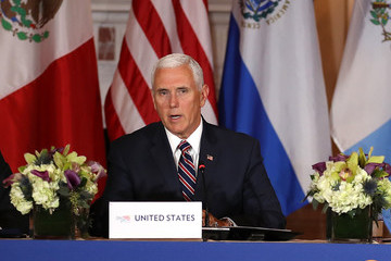 Mike Pence Pompeo, Pence, And Nielsen Hold Security Conference With Central American Leaders