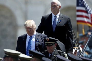 Mike Pence Donald Trump and Jeff Sessions Attend 36th annual National Peace Officers' Memorial Service