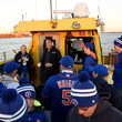 Mike Piazza Delta Air Lines Shuttles Fans To Citi Field For The World Series