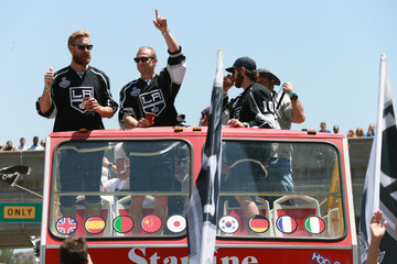 Mike Richards Jeff Carter Los Angeles Kings Victory Parade and Rally