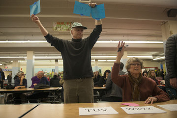 Mike Schmidt Voters in Super Tuesday States Cast Their Ballots