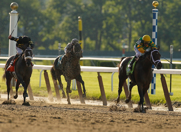 145th Belmont Stakes [horse,bridle,mammal,vertebrate,halter,rein,jockey,horse tack,animal sports,horse supplies,mike smith,belmont stakes,firld,elmont,new york,belmont park,palace malice,running]