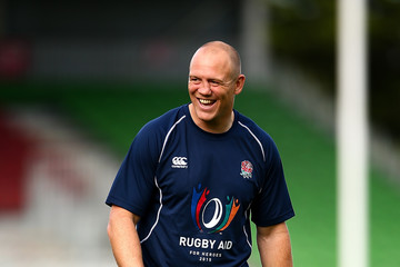 Mike Tindall Rugby Aid 2015 Celebrity Rugby Match Media Session