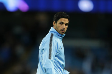 Mikel Arteta Manchester City v Olympique Lyonnais - UEFA Champions League Group F