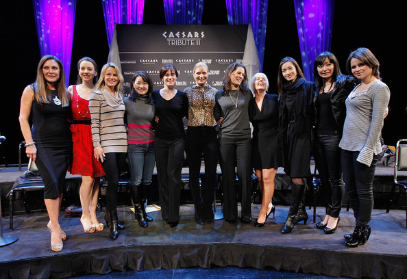 2011 Caesars Tribute II Press Conference [the caesars tribute ii: a salute to the ladies of the ice,performance,event,talent show,fashion,performing arts,competition,stage,heater,team,musical,peggy fleming,yuka sato,sarah hughes,ekaterina gordeeva,shizuka arakawa,miki ando,l-r,caesars tribute ii press conference,press conference]