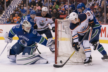 Milan Lucic Edmonton Oilers v Vancouver Canucks