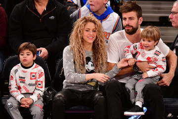 Milan Pique Mebarak Celebrities Attend The New York Knicks Vs Philadelphia 76ers Game