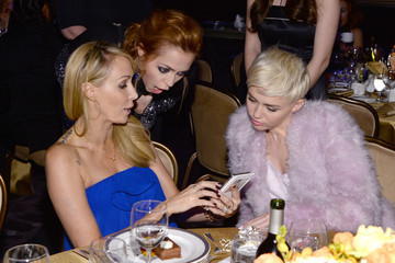 Miley Cyrus Brandi Cyrus The 56th Annual GRAMMY Awards - Pre-GRAMMY Gala And Salute To Industry Icons Honoring  Lucian Grainge - Show