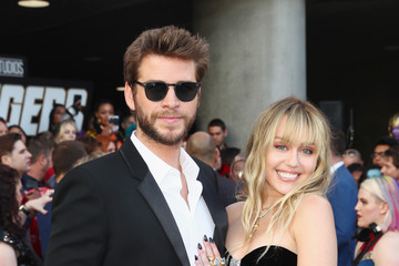 Miley Cyrus Liam Hemsworth Audi Arrives At The World Premiere Of 'Avengers: Endgame'
