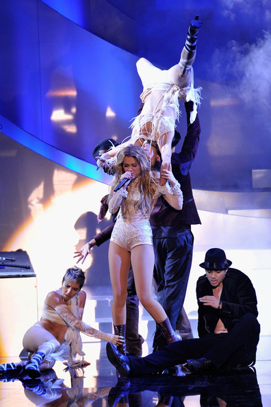 Miley Cyrus Musicians Miley Cyrus during the MTV Europe Music Awards 2010 live show at La Caja Magica on November 7, 2010 in Madrid, Spain.