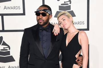 Miley Cyrus Mike WiLL Made It 57th GRAMMY Awards - Arrivals