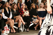 (L-R) Arden Cho, Camren Bicondova, Kelly Osbourne, Candace Cameron Bure  and Skyler Samuels attend Front Row at Milly - September 2016 - New York Fashion Week at Art Beam on September 9, 2016 in New York City.