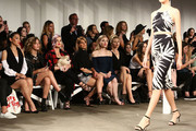 (L-R) Arden Cho, Camren Bicondova, Kelly Osbourne, Candace Cameron Bure,  Skyler Samuels and Johanna Braddy attend Front Row at Milly - September 2016 - New York Fashion Week at Art Beam on September 9, 2016 in New York City.