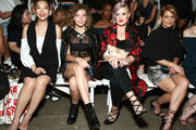 (L-R) Arden Cho, Camren Bicondova, Kelly Osbourne and Candace Cameron Bure attend Front Row at Milly - September 2016 - New York Fashion Week at Art Beam on September 9, 2016 in New York City.