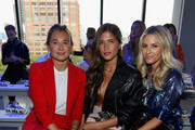 Danielle Bernstein Rocky Barnes and Morgan Stewart attend the Milly by Michelle Smith front row during New York Fashion Week: The Shows at Gallery II at Spring Studios on September 7, 2018 in New York City.